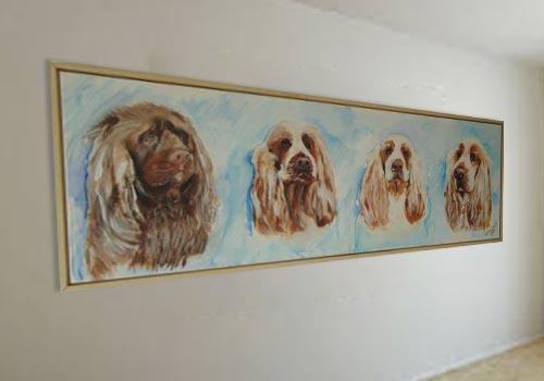 Onze honden zijn geschilderd